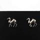 1 Pair Camel stud earrings - Tiny Camel stud earrings - 925 Sterling Silver 10mmx8mm ED614