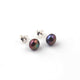 1 Pair Pearl Round Stud Earrings With Back Stoppers - 925 Sterling Silver - Round Stud Tops 6mm  ED601