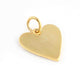 1 Pc Pave Diamond Designer Heart  Pendant - Yellow Gold - Necklace Pendant 21mmx22mm PD1703