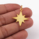 1 Pc  Star Pendant Over 925 Sterling Silver 26mmx23mm PD1943