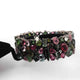 1 Pc Pave Diamond & Multi Tourmaline Designer Bracelet - 925 Sterling Silver Diamond Bracelet Size: 7-Inches BD265