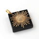 1 Pc Pave Diamond Designer Sun Yellow Gold Pendant - Sun Pendant 45mmx41mm PD1952
