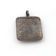 1 Pc Pave Diamond Rectangle Solid Silver With Lip 925 Sterling Silver Pendant 42mm32mm PD760