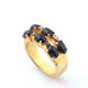 1 PC Beautiful Pave Diamond Black Onyx Ring - 925 Sterling Vermeil - Gemstone Ring Size -8 RD015