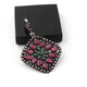 1 Pc Pave Diamond Genuine Ruby Center In Emerald Pendant -925 Sterling Silver -Gemstone Necklace Pendant 37mmx33mm PD1839