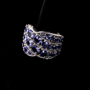 1 Pc Tanzanite Ring,  925 Sterling Silver Ring, Tanzanite Vintage Ring, Antique Jewelry,  RD462