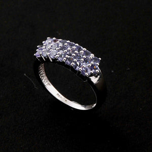 1 Pc Tanzanite Ring,  925 Sterling Silver Ring, Tanzanite Vintage Ring, Antique Jewelry, RD461