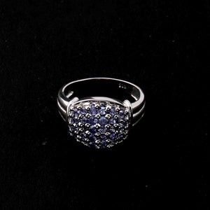 1 Pc Tanzanite Ring,  925 Sterling Silver Ring, Tanzanite Vintage Ring, Antique Jewelry RD460