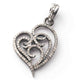 1 PC Genuine Pave Diamond Heart Shape Pendant -925 Sterling Silver Pendant - Designer Pendant 32mmx22mm PD862