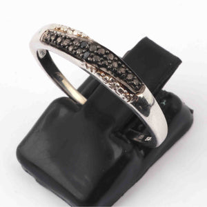 1 PC Black Spinel Designer Shape Ring - 925 Sterling Silver - Diamond Ring  GVRD029