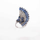 1 PC Beautiful Pave Diamond With Kyanite  Ring - 925 Sterling Silver - Designer Ring- Ring Size :8.5 SJRD007
