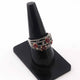 1 PC Beautiful Pave Diamond With Ruby Ring - 925 sterling silver-Designer Diamond Ring-Women Jewelry-Size:8.5 SJRD023
