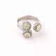 1 Pc Pave Diamond Designer Ethiopian Opal Ring - 925 Sterling Silver - Diamond Ring-Women Jewelry- Ring Size-7.5 SJRD018