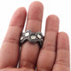 1 PC Beautiful Pave Diamond Ring With Rose Cut Diamond - 925 Sterling Silver- Polki Ring- Band Ring-Women Jewelry- Size-9 SJRD037