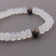 Natural Chalcedony Beaded Bracelet - Beads Bracelet -Single Wrap Bracelet- Gemstone Bracelet BB006