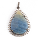 1 Pc Antique Finish Baguette Diamond Blue Quartz Pear Pendant - 925 Sterling Silver - Necklace Pendant 45mmx30mm PD1182
