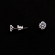 1 Pair Best Quality Cubic Zirconia Studs - Sterling Silver CZ Flower Earring Stud 5mm ET022
