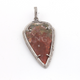 1 Pc Pave Diamond Shaded Jasper Arrowhead Pendant Over 925 Sterling Silver - Arrowhead Pendant PD463