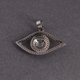 1 Pc Pave Diamond Evil Eye Pendant - 925 Sterling Silver- Eye Pendant 18mmx29mm PD1234