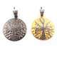 1 Pc Pave Diamond Tree Of Life Pendant 925 Sterling Silver & Vermeil - Tree Pendant 44mmx39mm PD233