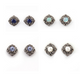 1 Pair Pave Diamond Beautiful Pearl,Opal,Tanzanite,Blue Sapphire Stud Earrings - 925 Sterling Silver Studs With Back Stoppers 10mm ED059