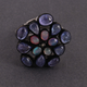 9gm 1 PC Beautiful Pave Diamond Tanzanite Ring Center In Opal - 925 Sterling Silver - Gemstone Ring Size -7 RD152
