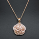 Morganite Flower Design Necklace, High Quality Diamond, Solitaire Necklace, Rose Gold Vermeil,Elegant Petite Delicate Dainty Necklace PD1393