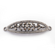 1 Pc Pave Diamond With Baguette Diamond Bracelet Connector - Pave Diamond Link - 925 Sterling Silver - Diamond Connector 46mmx14mm PD088