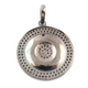 1 Pc Pave Diamond Round Designer Pendant -925 Sterling Silver -Necklace Pendant 33mmx29mm PD1513