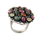 13gm 1 PC Beautiful Pave Diamond Multi Tourmaline Ring - 925 Sterling Silver - Gemstone Ring Size -6 RD178