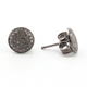 1 Pair Beautiful Pave Diamond Round Stud With Back Stopper-925 Sterling Silver - Designer Stud Earring 10mm ED107