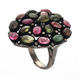 13gm 1 PC Beautiful Pave Diamond Multi Tourmaline Ring - 925 Sterling Silver - Gemstone Ring Size -7.75 RD289