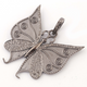 1 Pc Antique Finish Pave Diamond Butterfly Pendant - 925 Sterling Silver -Diamond Pendant 38mmx36mm PD1519