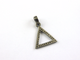 1 Pc Pave Diamond Triangle Shape 925 Sterling Silver Pendant- Diamond Triangle Pendant 20mmx19mm PD588