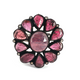 13gm 1 PC Beautiful Pave Diamond Carved Leaf Pink Tourmaline Ring - 925 Sterling Silver - Gemstone Ring Size -8.5 RD340