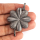 1 Pc Antique Finish Pave Diamond Designer Clover Leaf Pendant - 925 Sterling Silver- Necklace Pendant 46mmx35mm PD1336