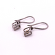 1 Pair Rosecut Diamond Earring -925 Sterling Vermeil & Silver - Polki Earrings 12mmx8mm-16mmx9mm ED087