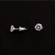 1 Pair Best Quality Cubic Zirconia Studs - Sterling Silver CZ Flower Earring Stud 6mm ET020