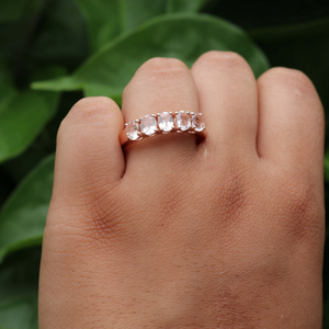 1 Pc Morganite Diamond Ring, Rose Gold Finish 925 Sterling Silver Ring, Pink Morganite Vintage Ring, Antique Jewelry,  RD390