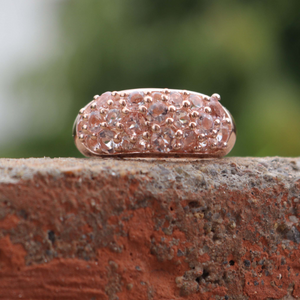 1 Pc Morganite Ring, Rose Gold Finish 925 Sterling Silver Ring, Pink Morganite Vintage Ring, Antique Jewelry,  RD343