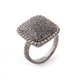 1 PC Beautiful Pave Diamond & Black Spinel Rectangle Ring - 925 Sterling Silver - Diamond Ring Size - 8.25 RD354