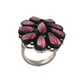 11gm 1 PC Beautiful Pave Diamond Carved Leaf Pink Tourmaline Ring - 925 Sterling Silver - Gemstone Ring Size -5.75 RD177