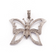 1 Pc Pave Diamond Butterfly Pendant - 925 Sterling Silver - Butterfly Pendant 29mmx35mm PD1109
