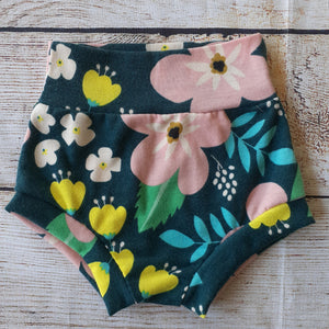 Green Floral Bummies RTS