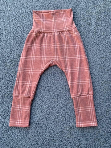 Rust Plaid GWM JOGGERS 3m-12m RTS