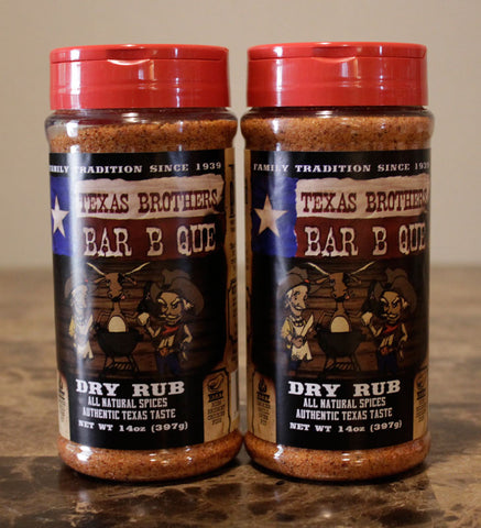 2 Pack - 14 oz Barbecue Dry Rub Spice Bottle