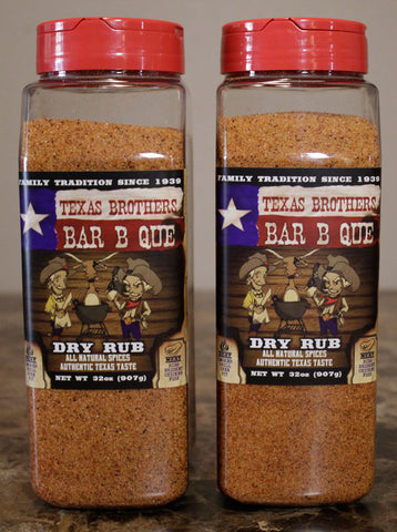 2 Pack - 32 oz Barbeque Dry Rub Spice Bottle
