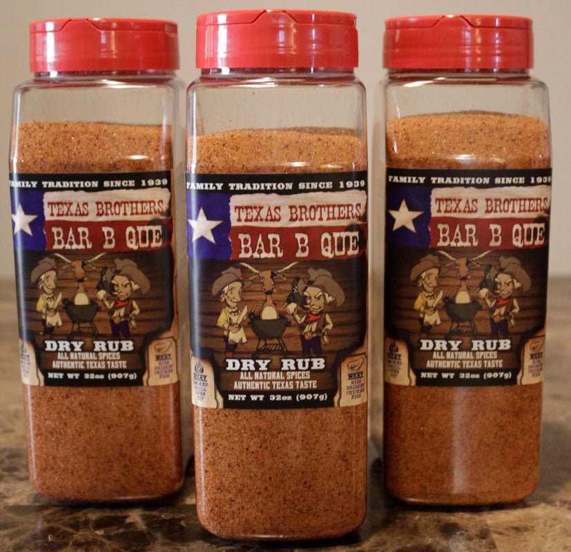 3 Pack - 32 oz Barbeque Dry Rub Spice Bottle