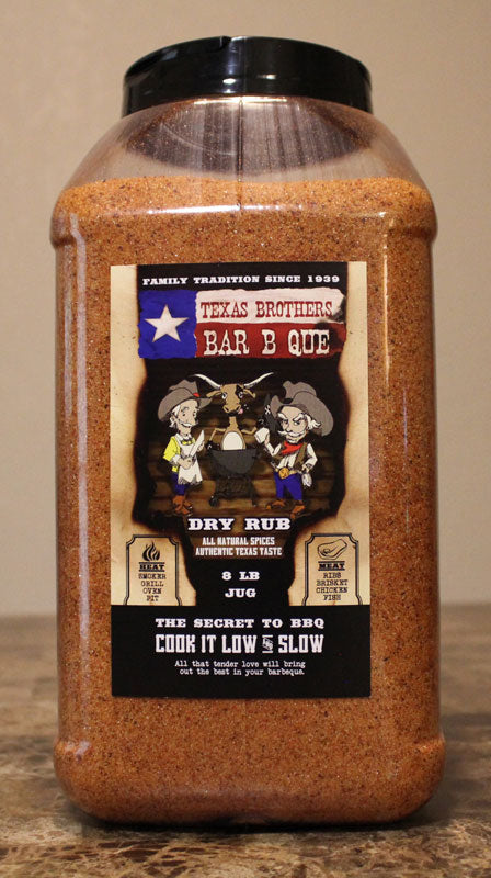 8 lb Bulk Jug of Barbecue Dry Rub Seasoning