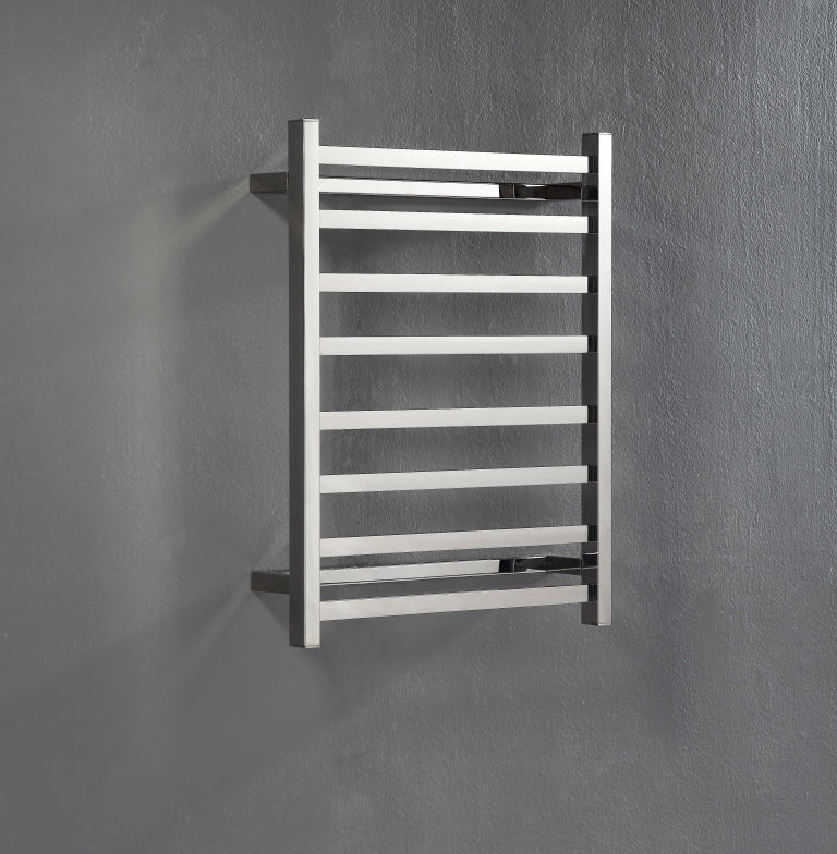 Heated Towel Rail. Flat Square 8 Bars 700 mm x 530 mm